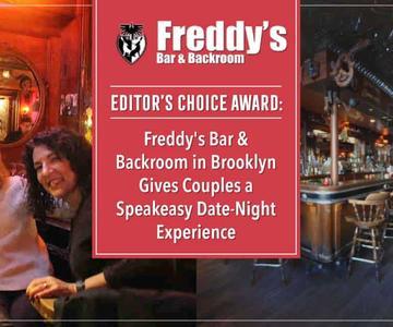 """El premio """"Editor's Choice"""": Freddy's Bar & Backroom en Brooklyn ofrece a las parejas una experiencia de citas y noches de charla."""