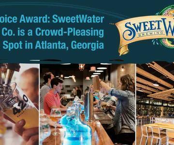 """Premio """"Editor's Choice"""": SweetWater Brewing Co. es un punto de encuentro para las fechas en Atlanta, Georgia."""