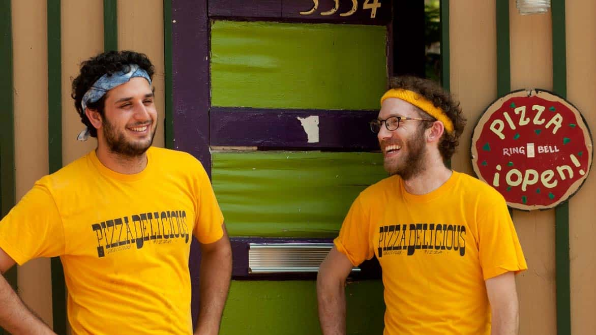 Photo of Pizza Delicious Co-Founders Greg Augarten and Mike Friedman