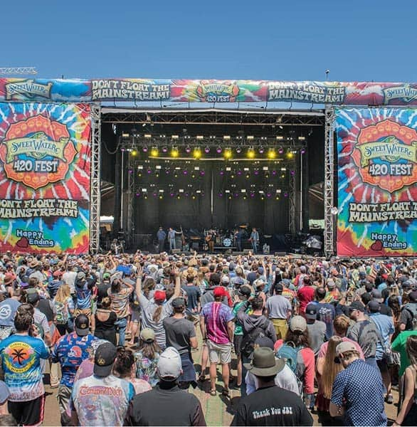 Photo of the SweetWater 420 Festival