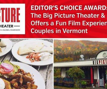 """El premio """"Editor's Choice"""": El Big Picture Theater & Café ofrece una experiencia cinematográfica divertida para parejas en Vermont"""