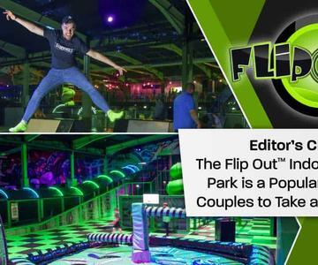 """El premio """"Editor's Choice"""": El Flip Out™ El Parque de Aventura Interior es un lugar popular para las parejas del Reino Unido para tener una cita y fiesta"""
