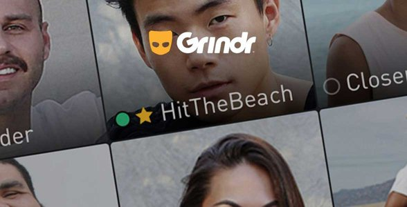 Screenshot of Grindr's homepage
