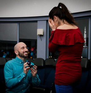 Photo of a proposal at the planetarium
